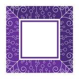 Abstrakter purpurroter Rahmen stock abbildung