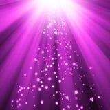 Abstrakter purpurroter Sternhintergrund Lizenzfreies Stockfoto