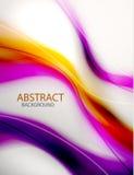 Abstrakter purpurroter Wellenhintergrund Stockbild