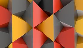 Abstrakter Pyramiden-Hintergrund mit orange Rot und Grey Colors Lizenzfreies Stockfoto