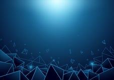 Abstrakter Pyramidenhintergrund Lizenzfreie Stockbilder