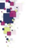 Abstrakter quadratischer Hintergrund Stockfoto