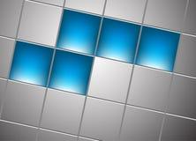 Abstrakter quadratischer Hintergrund. Klipp-Kunst Stockfotos