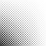 Abstrakter quadratischer Musterschwarzweiss-hintergrund - einfarbiges geometrisches Vektordesign von den diagonalen Quadraten Lizenzfreie Stockfotos