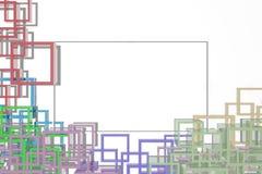 Abstrakter quadratischer Rahmen Lizenzfreie Stockbilder