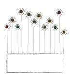 Abstrakter Rahmen mit Blumen Stockfotos
