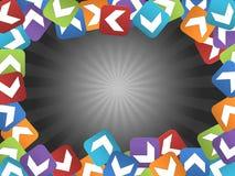Abstrakter Rahmen mit farbigen Quadraten Stockbild