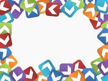 Abstrakter Rahmen mit farbigen Quadraten Stockfotos
