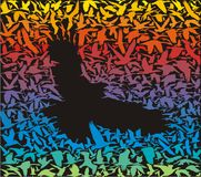 Abstrakter Raubvogel und sein Opfer Stockfotos