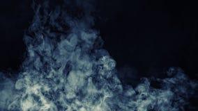Abstrakter Rauchnebelnebel auf einem schwarzen Hintergrund Beschaffenheit Vektorbild, Abbildung stock abbildung