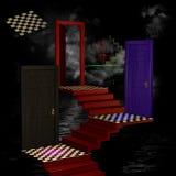 Abstrakter Raum 3D Stockbilder