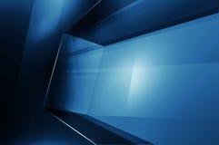 Abstrakter Raum der Hochtechnologie-3D, Digitaltechnik-Hintergrund Lizenzfreies Stockfoto