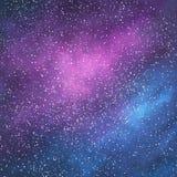 Abstrakter Raumgalaxiehintergrund Lizenzfreie Stockfotografie