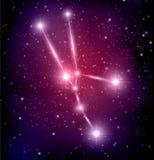 Abstrakter Raumhintergrund mit Sternen und Stierkonstellation Stockbilder