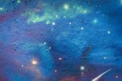 Abstrakter Raumwand-Graffitihintergrund Stockfotos
