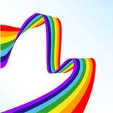Abstrakter Regenbogen lizenzfreie abbildung