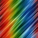 Abstrakter Regenbogen färbt Hintergrund mit unscharfen diagonalen Zeilen Stockfotografie