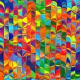 Abstrakter Regenbogen färbt Hintergrund mit unscharfen Linien Stockfotos