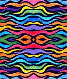 Abstrakter Regenbogen färbte Tentakeln im dunklen Hintergrund lizenzfreie abbildung