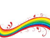 Abstrakter Regenbogen mit Blumen Lizenzfreies Stockfoto