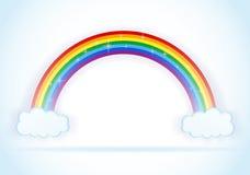 Abstrakter Regenbogen mit Wolkenvektor Lizenzfreies Stockbild
