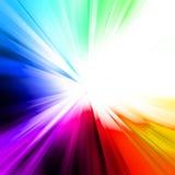 Abstrakter Regenbogen-Strahl Stockbilder