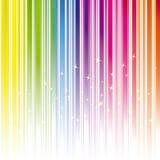 Abstrakter Regenbogenfarbenstreifen mit Sternen Lizenzfreies Stockfoto