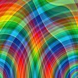 Abstrakter Regenbogenfarbzeichnungs-Plaidhintergrund Lizenzfreies Stockfoto