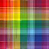 Abstrakter Regenbogenfarbzeichnungs-Plaidhintergrund Lizenzfreie Stockfotografie