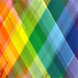 Abstrakter Regenbogenfarbzeichnungs-Plaidhintergrund Stockfotografie