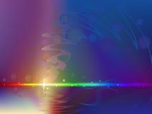 Abstrakter Regenbogenhintergrund Lizenzfreies Stockfoto