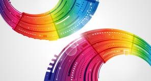 Abstrakter Regenbogenhintergrund Stockbild