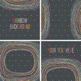 Abstrakter Regenbogenhintergrund auf Dunkelheit. Lizenzfreies Stockbild