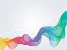 Abstrakter Regenbogenmischungs-Bandeffekt vektor abbildung