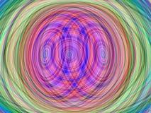 Abstrakter Regenbogenschicht-Spiralenhintergrund Stockfotos