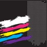 Abstrakter Retro- grunge Hintergrund, Abdeckung, Fahne Stockbild