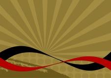Abstrakter Retro- Hintergrund stock abbildung