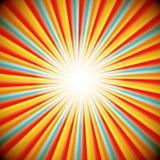 Abstrakter Retro Hintergrund des Sternimpulses stock abbildung