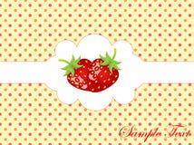 Abstrakter Retro- Hintergrund mit Erdbeere Lizenzfreie Stockbilder