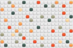 Abstrakter Retro- Mosaikhintergrund Lizenzfreie Stockfotos