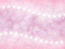 Abstrakter rosa Hintergrund mit boke und Sternen Stockfotografie