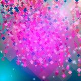 Abstrakter rosa Hintergrund mit Diamanten und Quadraten Vektor Lizenzfreie Stockfotos