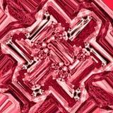 Abstrakter rosa Hintergrund mit winkligen quadratischen Blöcken und rautenförmiges gelegentliches Muster in den Wein- und Grenadi stock abbildung