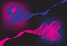 Abstrakter rosa und blauer Hintergrund Stockfotos