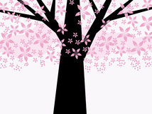 Abstrakter rosafarbener Blumenbaum stock abbildung