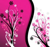 Abstrakter rosafarbener Blumenhintergrund Stockfotos