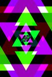 Abstrakter rosafarbener und grüner Hintergrund Stockbild
