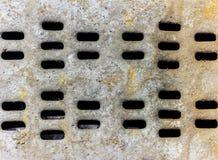 Abstrakter rostiger Metallhintergrund mit Löchern Stockfoto