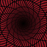 Abstrakter roter checkerd Hintergrund Stockfoto