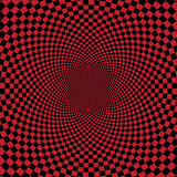 Abstrakter roter checkerd Hintergrund Lizenzfreie Stockfotos